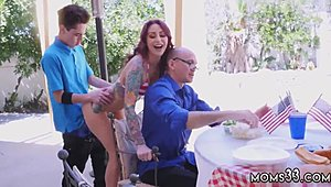 Russian mamma and compeer' associate shag xxx coy fourth Of July gangbang
