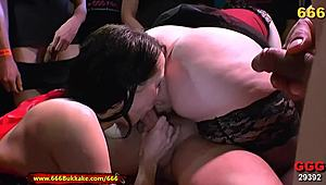 Chubby darling and fit whores in extraordinary Pissing 3some - 666Bukkake